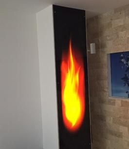 חיפוי זכוכית לסלון